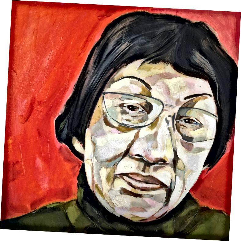 بان يوليانغ ، 1895–1977. زيت على لوح البتولا ، 16 × 16 بوصة ، 2015