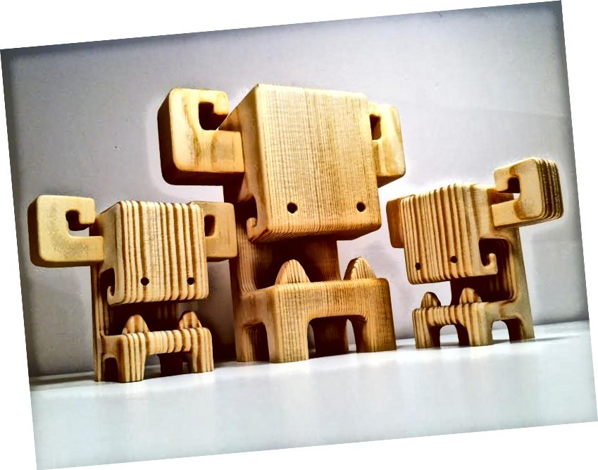 MEGA BOOSO - 7palcová dřevěná hračka od Pepe Hillera