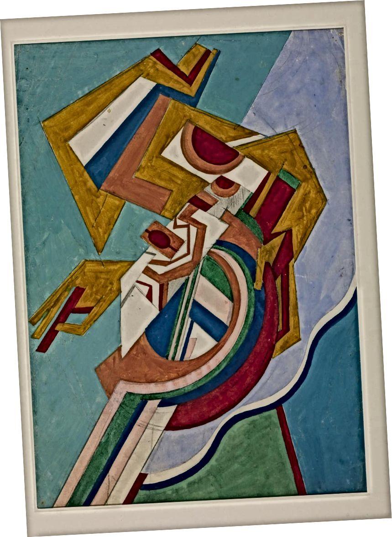 Հելեն Սաունդերսի «Վերացական գույնզգույն դիզայն» 1915 թ