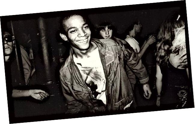 جان ميشيل باسكيات يرقص في نادي مود ، 1979 © نيكولاس تايلور