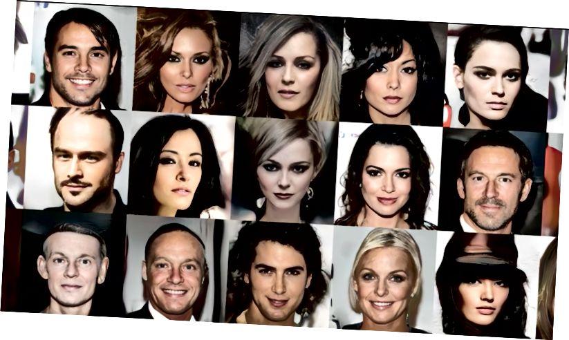 Лица на знаменитости, генерирани от GANs. Снимки: Nvidia