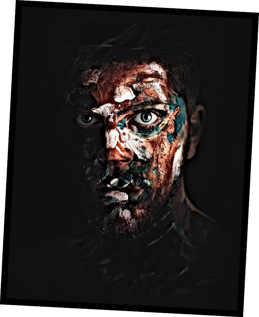 «Դեմքի ներկով մարդ» `Պիեռրիխ ՎԱՆ-ԹՐՈՒՍՏՍ-ի կողմից Unsplash- ում