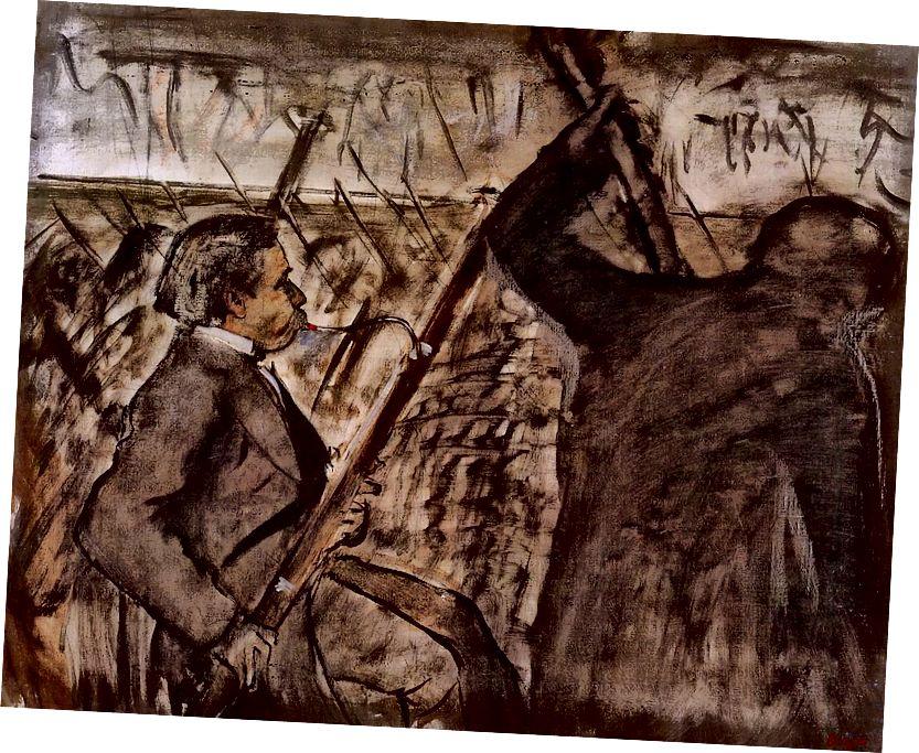 Էդգար Դեգաս, երաժիշտներ նվագախմբում, 1870, Պատվո լեգեոնի Սան Ֆրանցիսկո