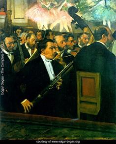 Էդգար Դեգաս, Օպերայի նվագախումբ, 1870, Փարիզի Օրսայի թանգարան