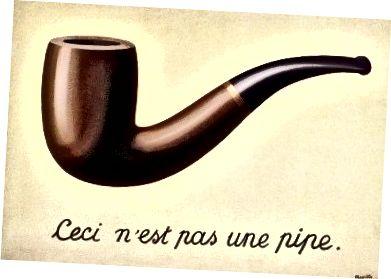"""René Magritte, """"The Treachery of Images"""", 1929, olej na plátně, Muzeum umění okresu Los Angeles"""