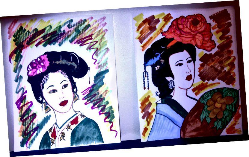 """Umělecká díla autora """"Japanese Princesses"""""""