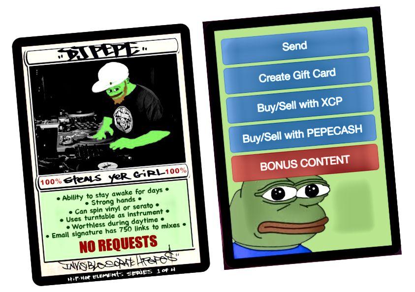 """DJPEPE, 13. října 2016. První """"přístupový token"""", který umožňuje bonusovému obsahu každému, kdo jej vlastní."""