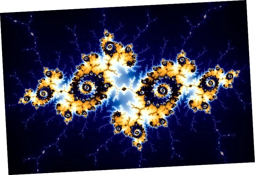 Mandelbrot- ի Fractal- ը բխում է խաբուսիկորեն պարզ հավասարությունից