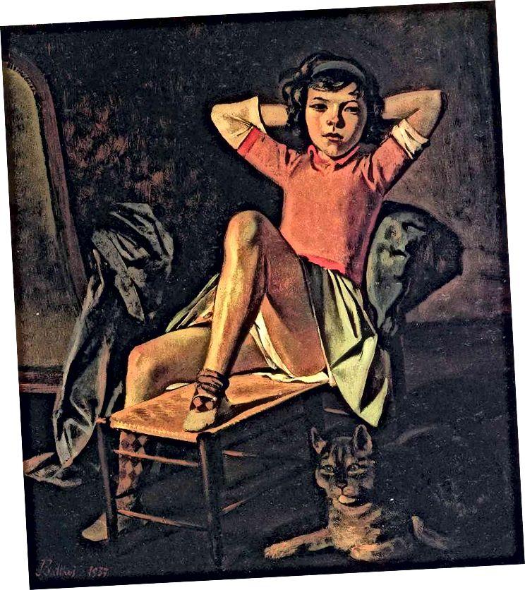 'Qız və Pişik / Teres, 1938