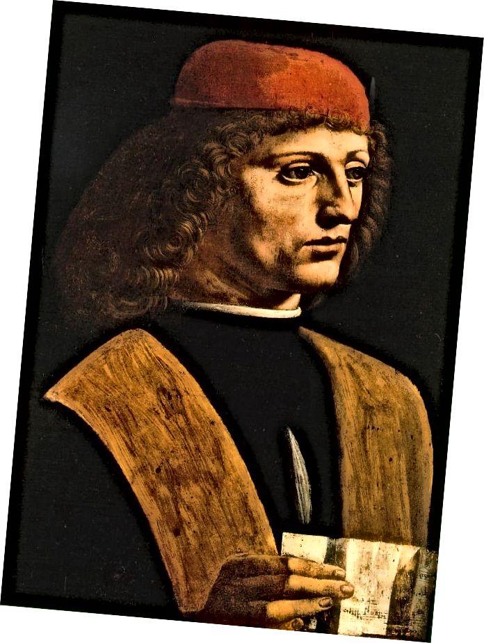 Porträt eines Musikers (1485) von Leonardo da Vinci