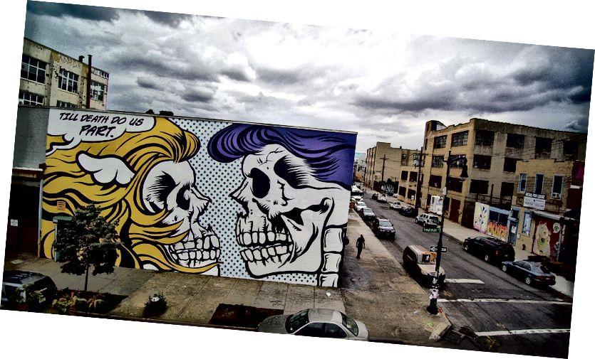 Britischer Künstler, D * Faces Wandbild, Til Death Do Us (P) Kunst.
