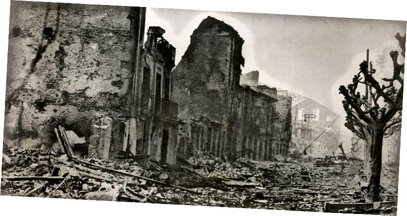Герника след атаката (Public Domain, източник: Wikipedia)