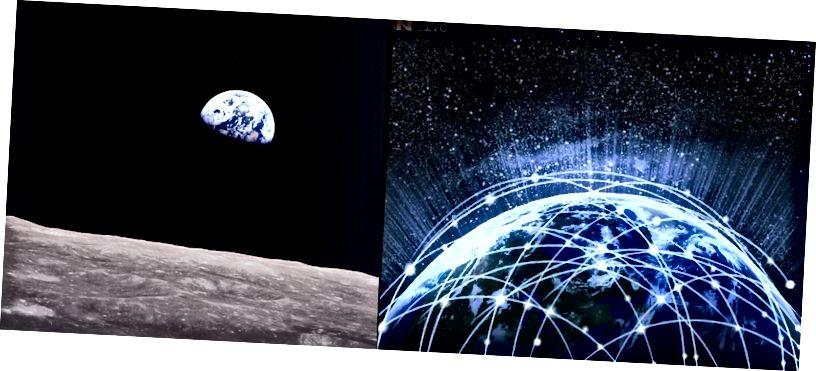 1968 թվականից ի վեր տիեզերանավ Երկիրը գրեթե ամբողջությամբ խավարվել է Համաշխարհային ցանցի կողմից: