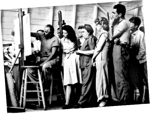ОБУЧЕНИЕ ГАНСА ХОФМАННА В 1945 ГОДУ. ФОТОГРАФИЯ КУРТЕСИИ МОРИСА БЕРЕЗОВА, © AE ARTWORKS.