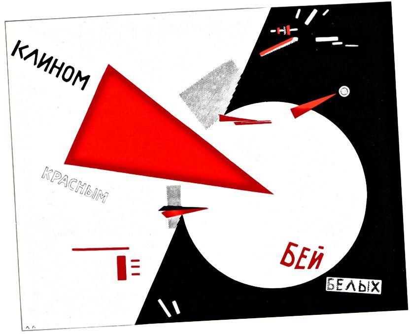 El Lissitzky: Qırmızı Niklə Ağları döymək - 1919