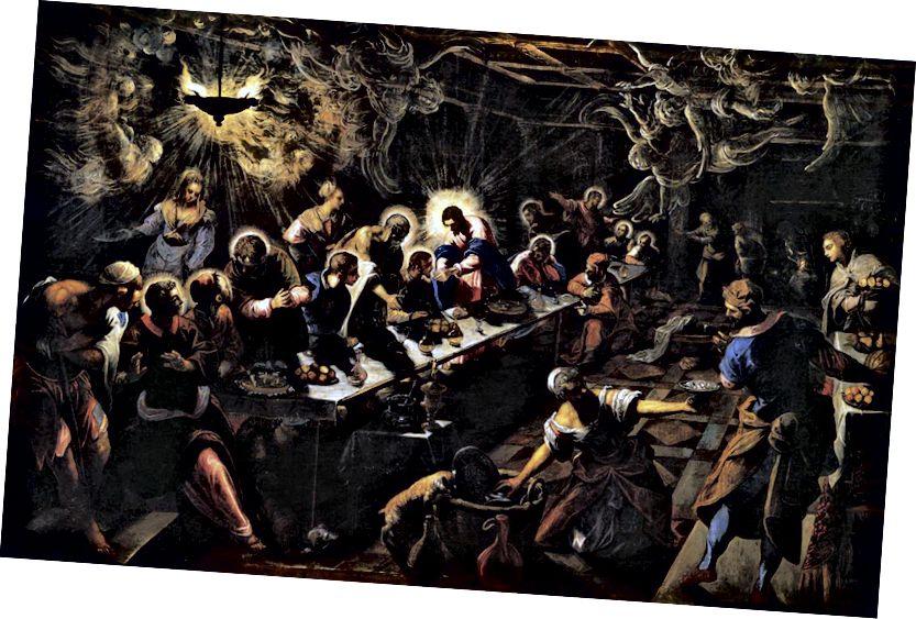 Նկար 1. Tintoretto- ի վերջին ընթրիքը 1592–94-ին Basilica di San Giorgio Maggiore, Վենետիկ