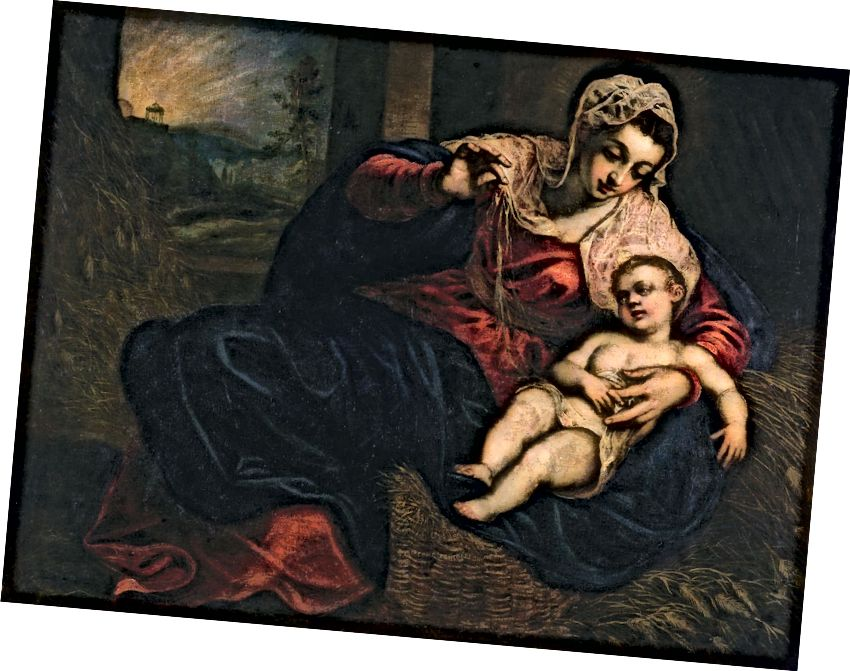 Նկար 0. «Մադոննա և երեխա», Jacopo Robusti, (Tintoretto) 1570–1572, Պատվո լեգեոնի Սան Ֆրանցիսկո, յուղ կտավով: