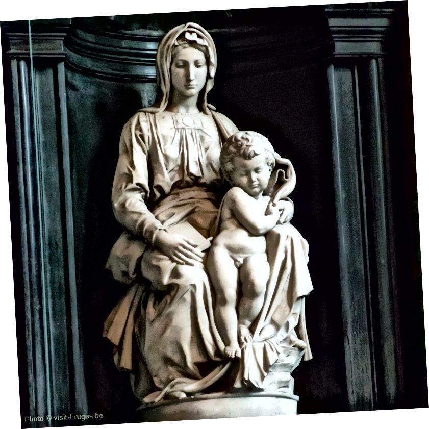 Նկար 4. Բրիջի Մադոննան ՝ Միքելանջելոյի կողմից, 1504–1504, Նոտ-Դամի եկեղեցի, Բրյուգե: