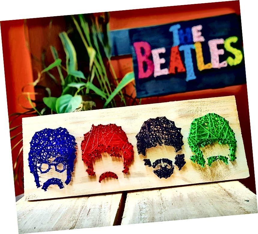 Beatles - String Art od Sonal Malhotra - Stoned Santa