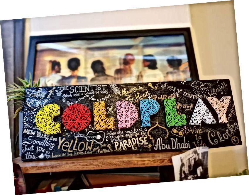 Coldplay String Art od Sonal Malhotra - Stoned Santa