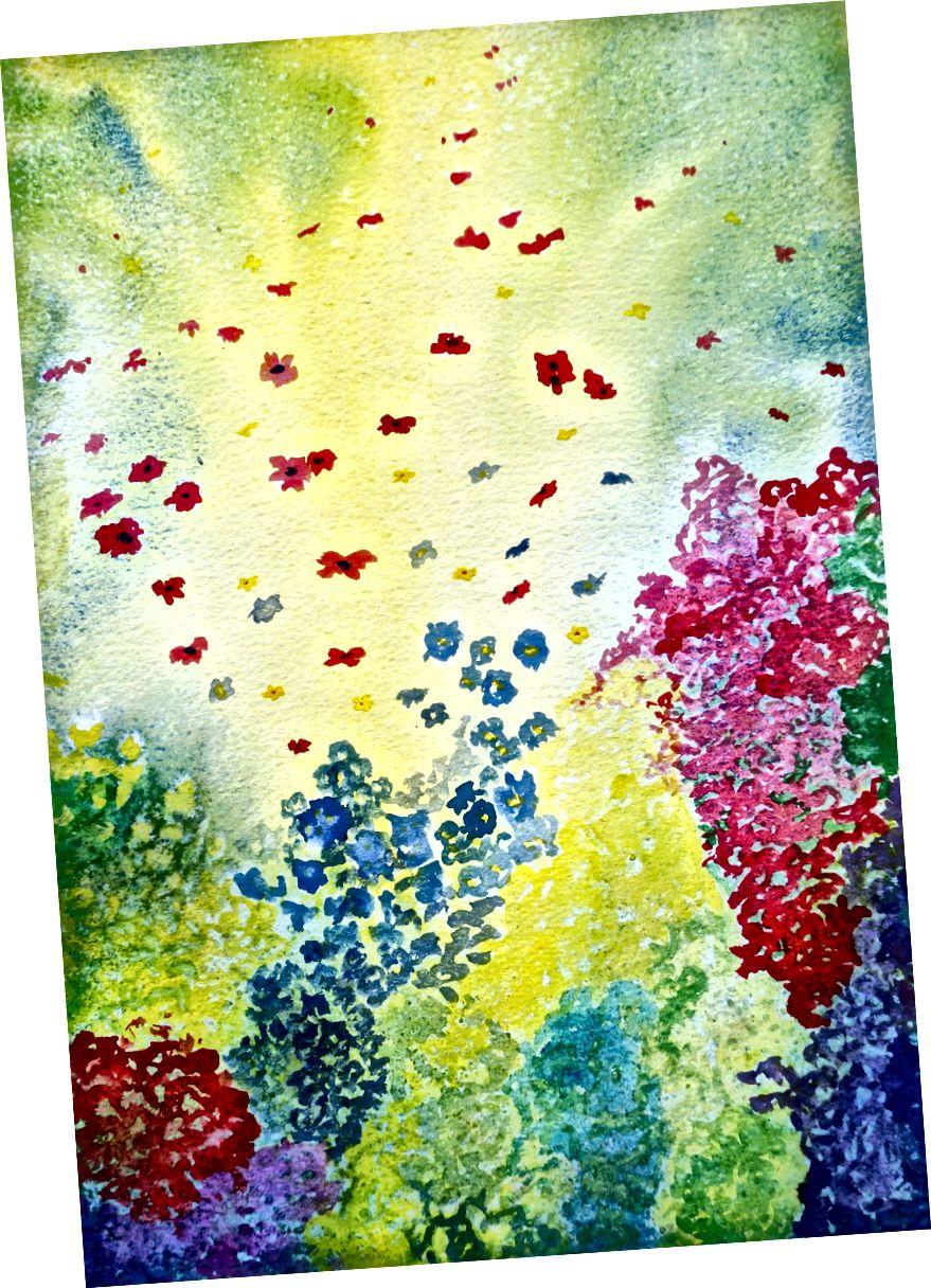 Xəyalpərəst Floral Confetti
