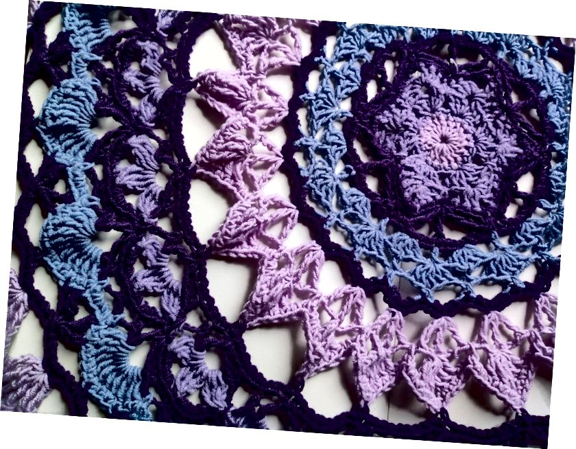 İstirahət edərkən yaradıcı qalmağı xoşlayan bir yol - Crochet Mandala.
