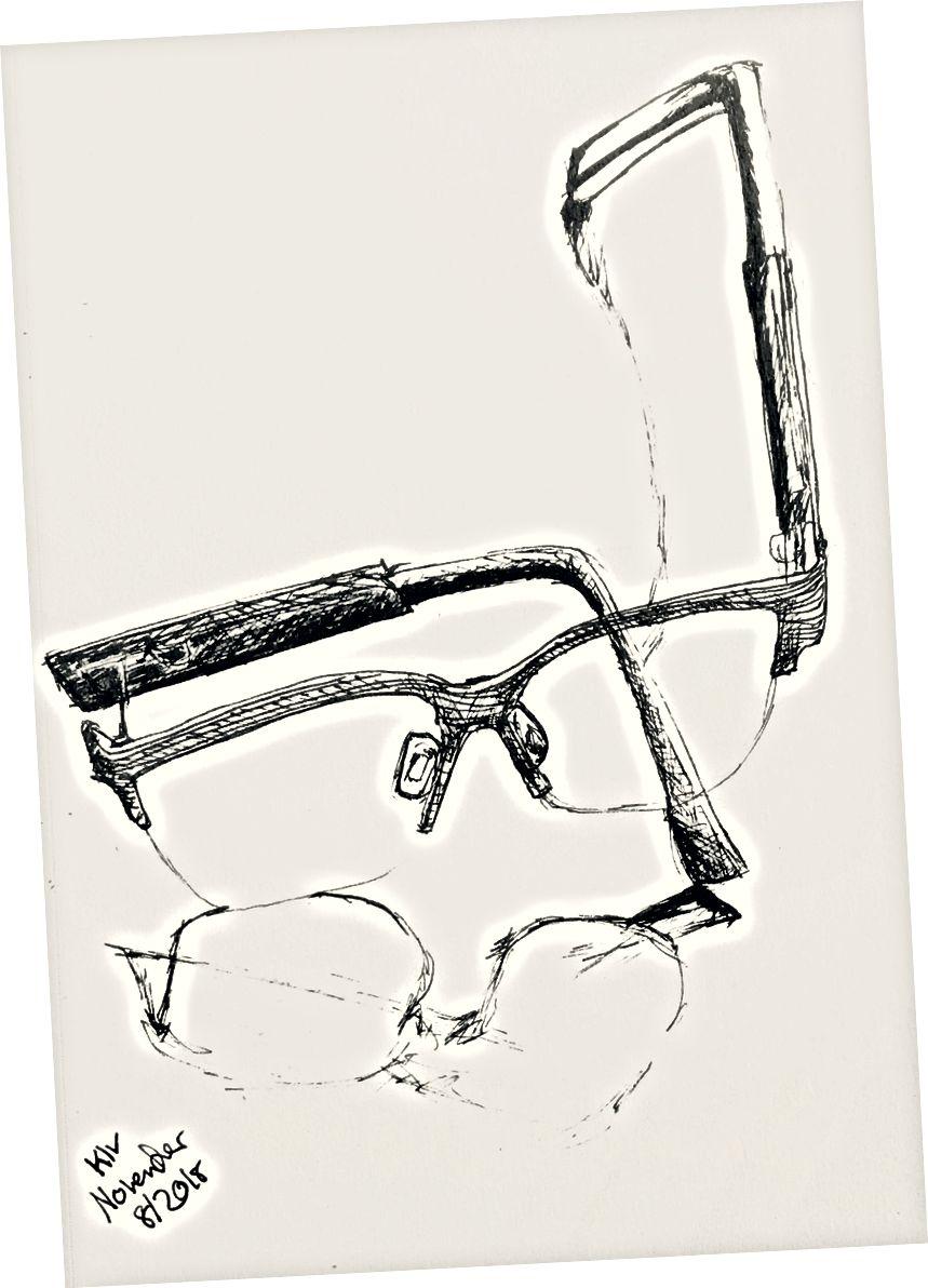 الفن بي الحبر على الورق