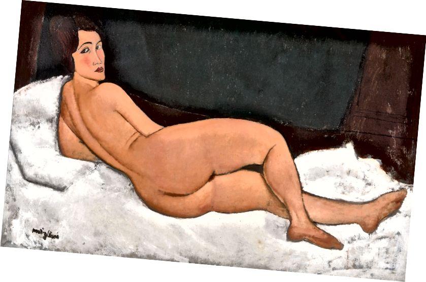 Amedeo Modigliani, Akt, 1917