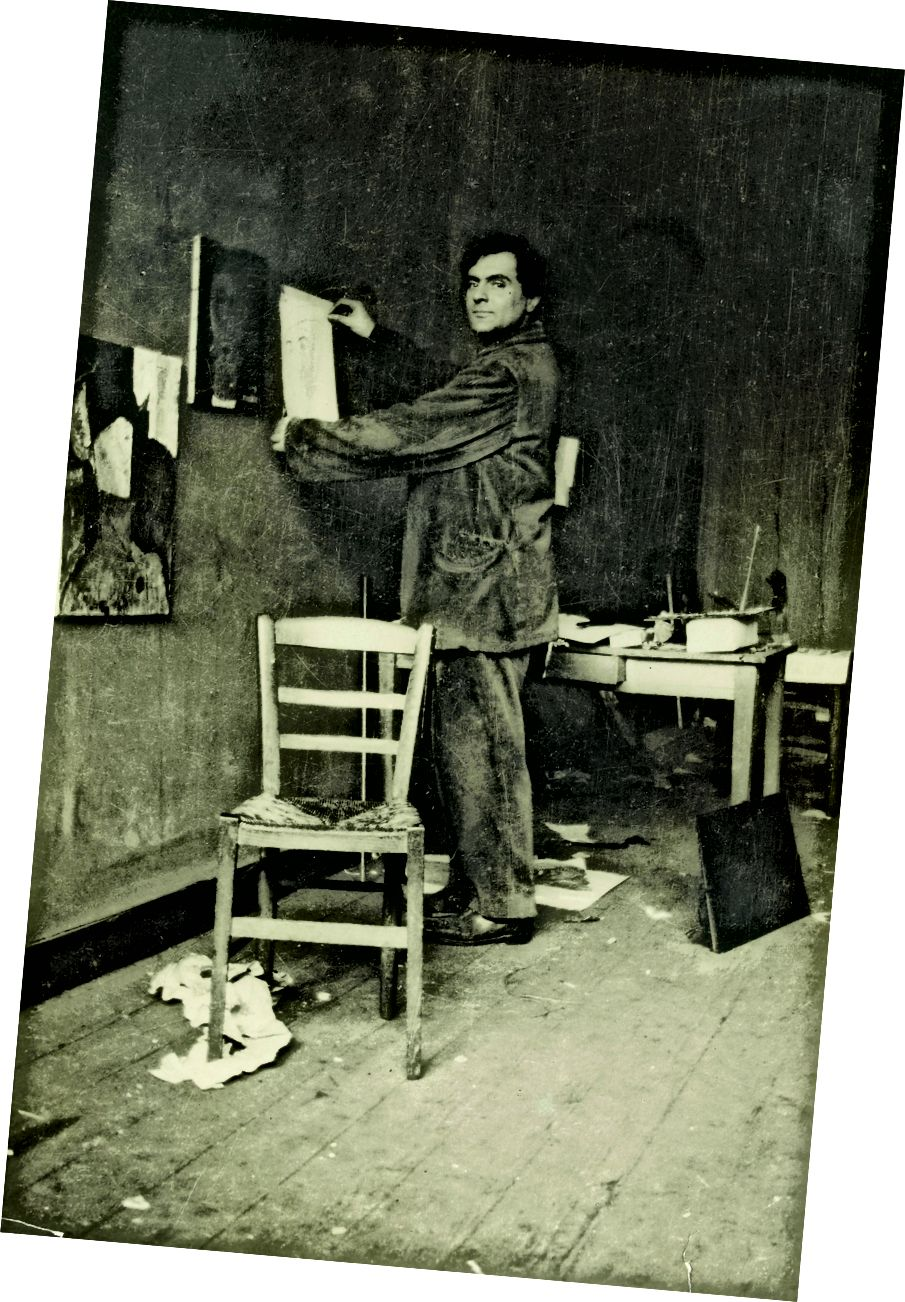 Modigliani in seinem Studio