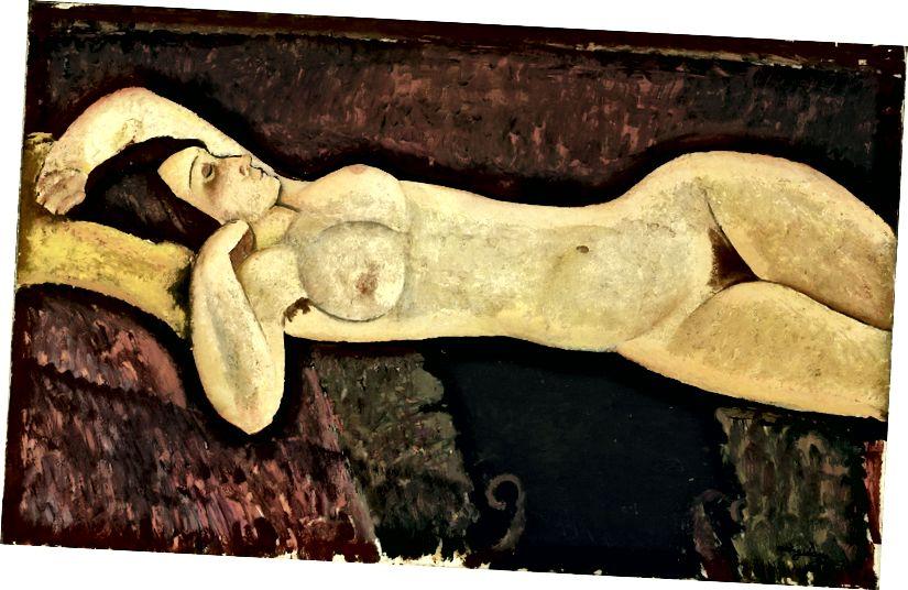 Amedeo Modigliani, Liegender Akt, 1919