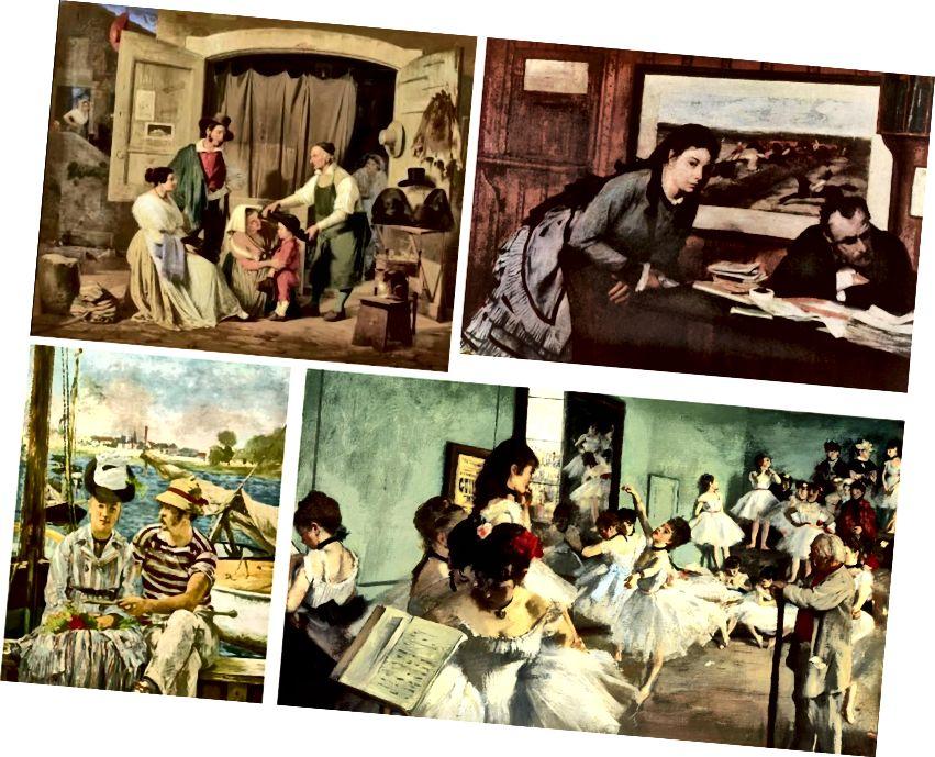 Վերևի ձախից (Նկար 4) Նկարներ ՝ Ալբերտ Կոչլերի, Էդգար Դեգասի, Էդգար Դեգասի և Ուդուարդ Մանեթի
