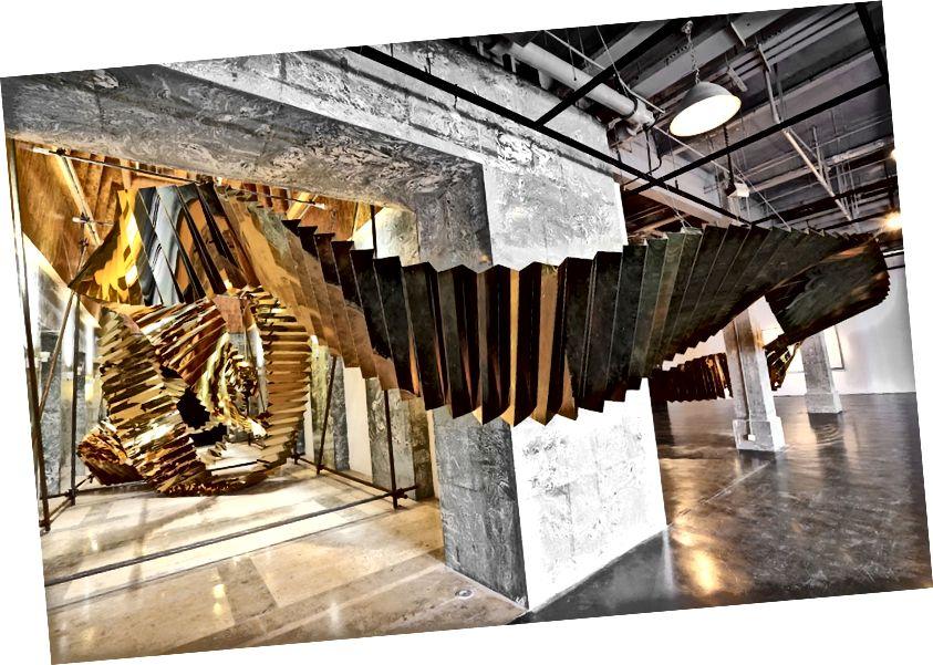 Գաո Վայանգ, «Ոչ մի ճանապարհ», 2013. Տեղադրման տեսք: Քաղաքավարություն DSL հավաքածու և նկարիչ