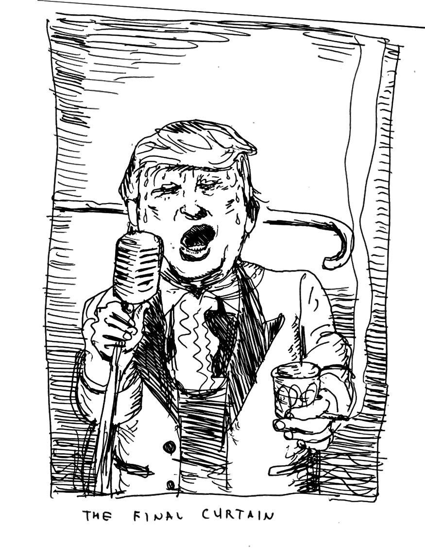Eine Trump-Skizze mit freundlicher Genehmigung von Barry Blitt