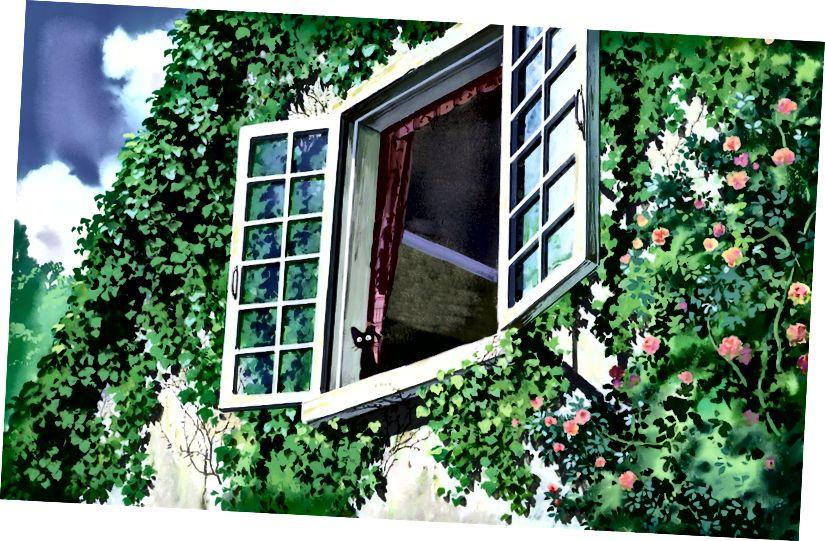 কিকি ডেলিভারি সার্ভিস থেকে একটি জল বর্ণযুক্ত আঁকা ব্যাকগ্রাউন্ড; সস: পিন্টারেস্ট