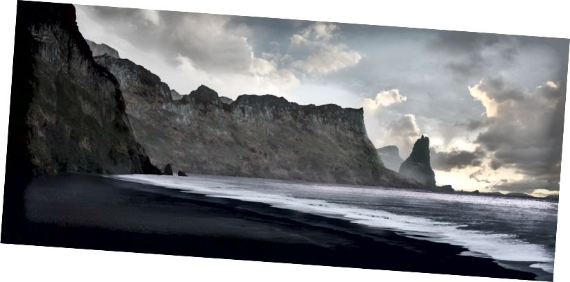 K útesu přidejte další skalní útesy a některé textury.