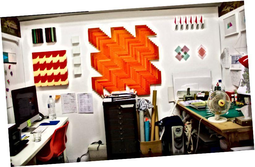 Rana Begums aktuelles (viel schöneres!) Studio in Haringey, Nord-London. Bildnachweis: Etwas Kuratiertes
