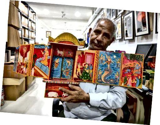 Dwarka Prasad, ein Kaavad-Schöpfer
