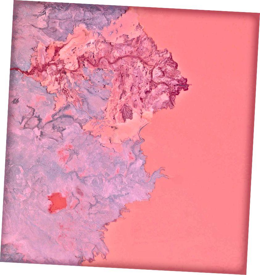46 · 407676 °, –87 · 530954 ° Rückstände sind die Abfälle und Nebenprodukte, die beim Bergbau entstehen. Die hier gezeigten Rückstände wurden in das Gribbens-Becken neben den Eisenerzminen Empire und Tilden in Negaunee, Michigan, USA, gepumpt. Sobald die Materialien in den Teich gepumpt sind, werden sie mit Wasser gemischt, um eine schlampige Form von Schlamm zu erzeugen, die als Gülle bekannt ist. Die Aufschlämmung wird dann durch magnetische Trennkammern gepumpt, um verwertbares Erz zu gewinnen und die Gesamtleistung der Mine zu erhöhen. Aus Gründen der Skalierbarkeit zeigt diese Übersicht ungefähr 2,5 Quadratkilometer (1 Quadratmeile) des Beckens. Täglicher Überblick | Satellitenbilder © 2016, DigitalGlobe, Inc.