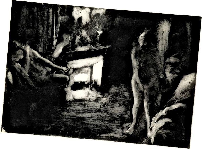 Jeden z Degasových monotypů.