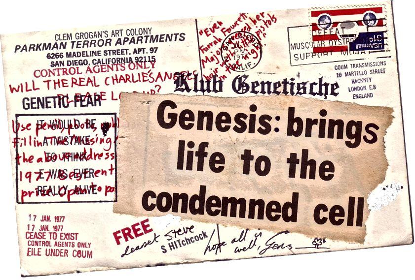 Eine Postkarte von COUM Transmissions