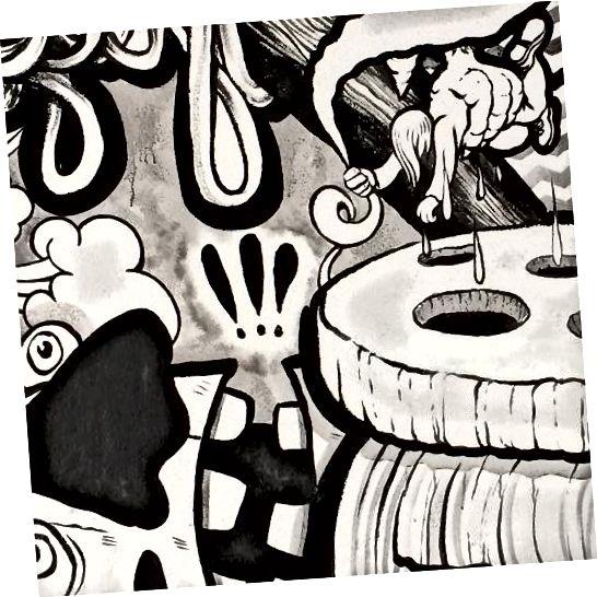 Quai des Arts, EN MASSE. 4890 bulvár St-Laurent. Stříkací barva na cihlu, 2011