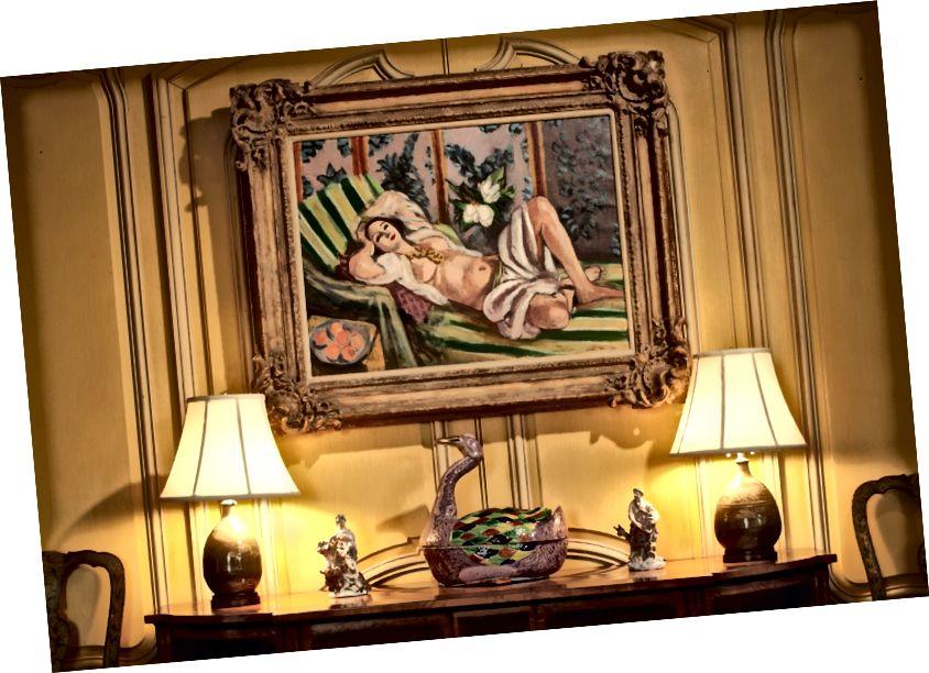 Հենրի Մատիսեի Odalisque couchée aux magnolias- ը Ռոքֆելլերների հյուրասենյակում:
