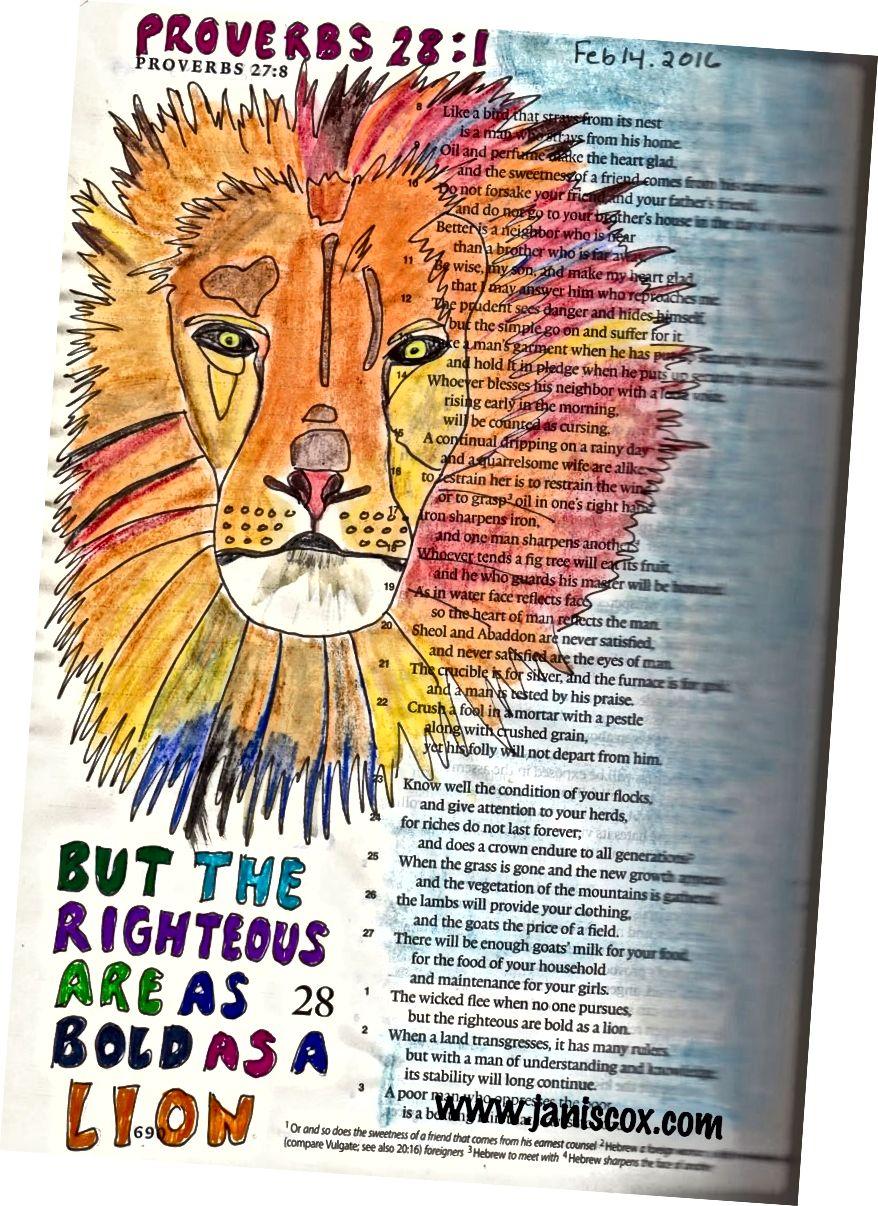 Bible Art od Janis Cox - kurz zdarma k dispozici.