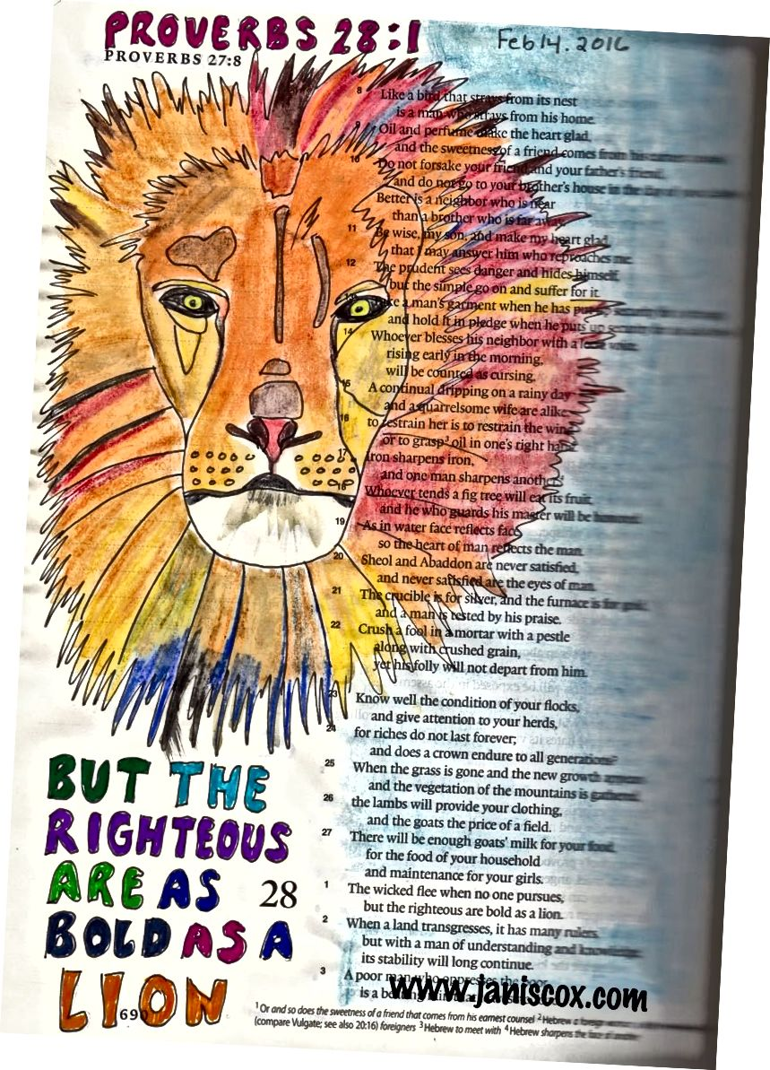 Umění Bible od Janise Coxe