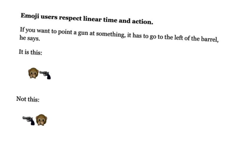 «Ահա Emoji- ի օգտագործման կանոնները, որոնք դուք չգիտեիք, որ դուք հետևում եք» ՝ Քեթի Շտայնմցը TIME- ում