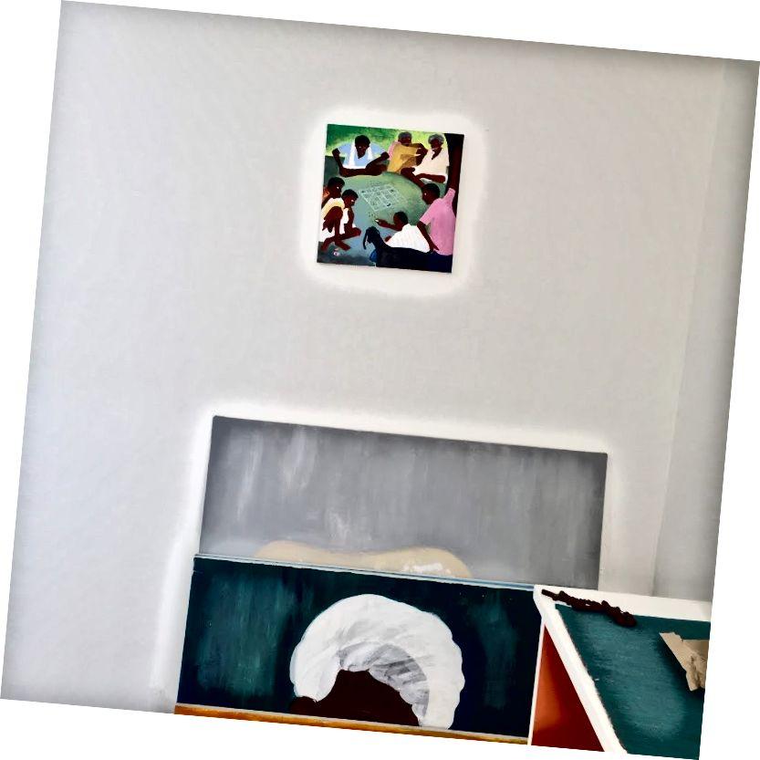 Ashta Chamma, Ակրիլային կտավի վրա, 12 x x 12 in