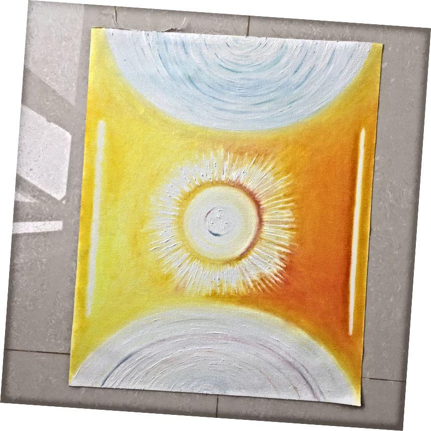 Միթրիմ Բհաջաթա ՝ 16 x x 20 – ով, յուղ ՝ կտավով