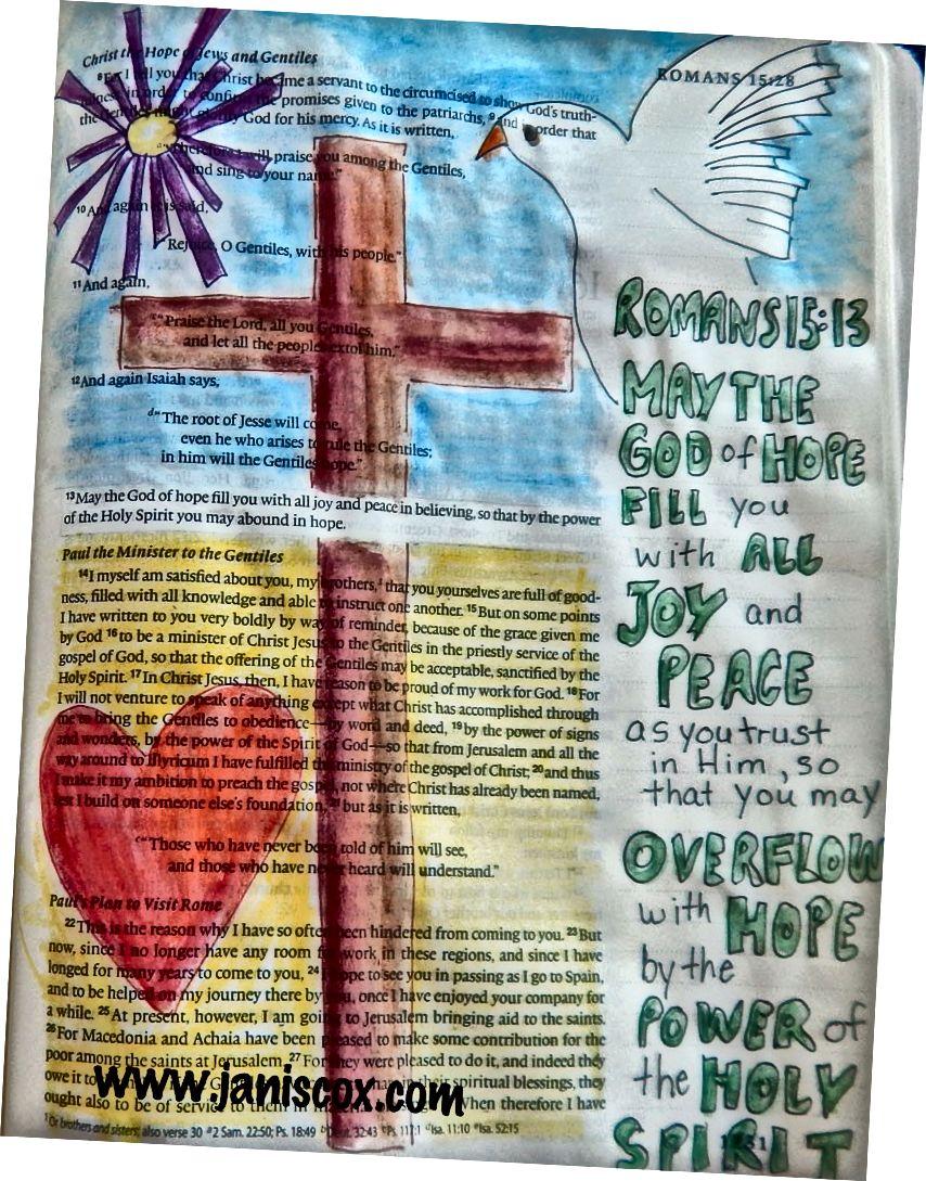 Bible Art - Janis Cox - kurz biblického umění zdarma.