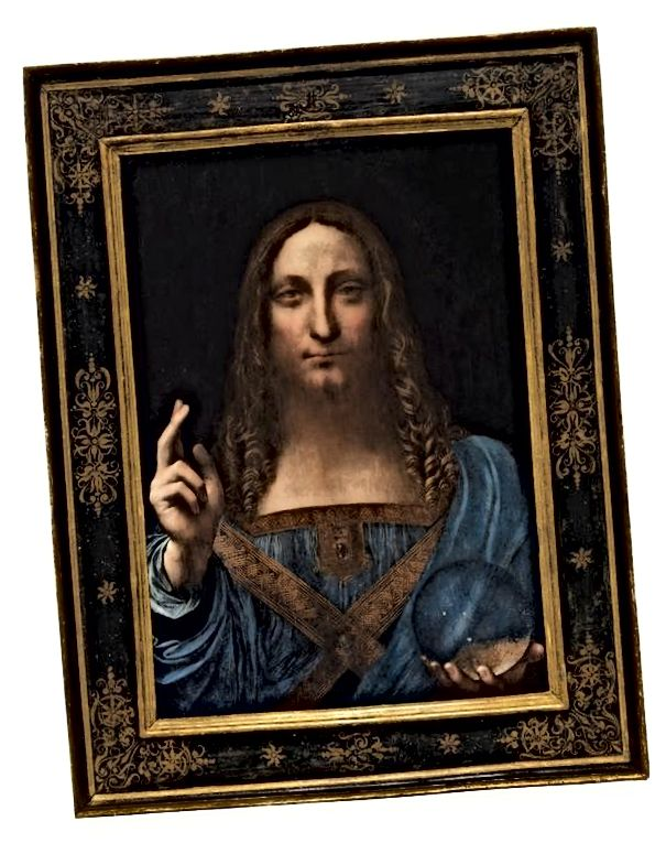 Leonardo Da Vincis Salvator Mundi. Bilde: REUTERS