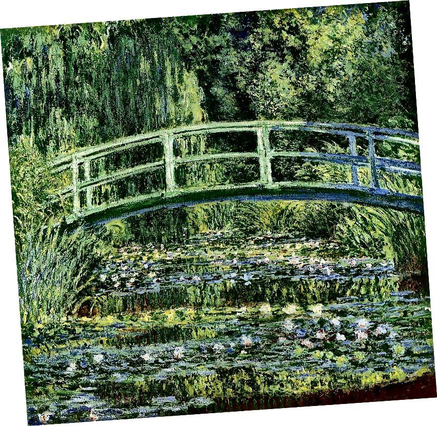 Bağçasında naməlum qonaq olan Monet, Su LIlies və Yapon Körpüsü, İctimai Sahə